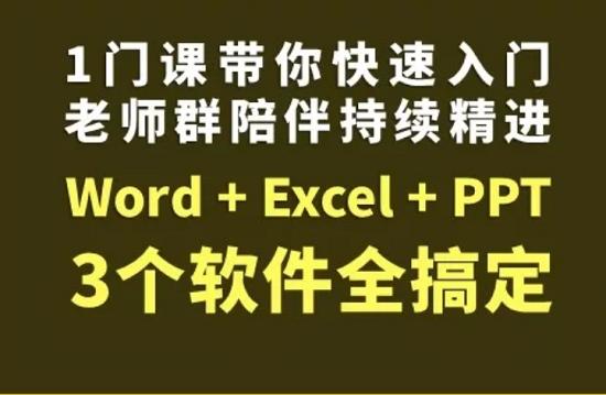 秋叶office:Word+Excel+PPT三合一全套课程