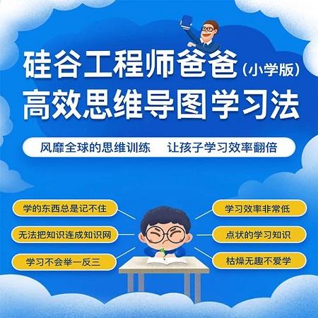 硅谷爸爸思维导图学习法(小学版)