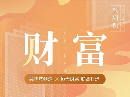 吴晓波我的财富计划系列
