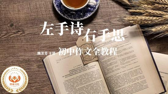 初中作文:熊芳芳左手诗右手思初中作文全教程